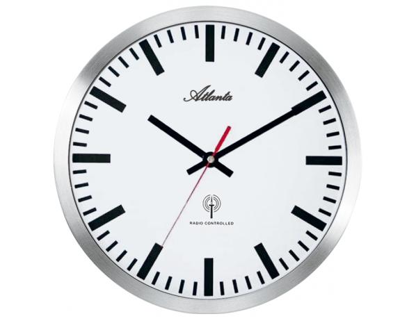 Designové nástěnné hodiny AT4371-B řízené signálem DCF