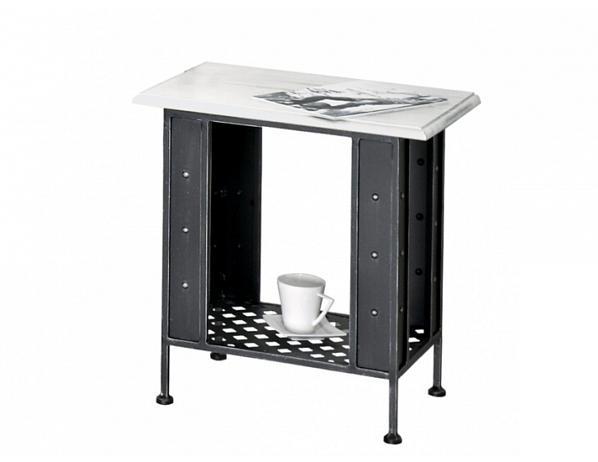 Kovaný noční stolek s poličkou VALENCIA 0468