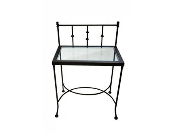 Kovový noční stolek se sklem AMALFI 0472B