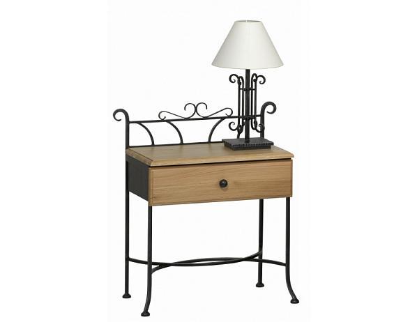 Kovový noční stolek se zásuvkou ALTEA 0474