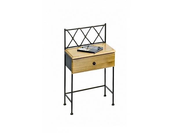 Kovaný noční stolek se zásuvkou SALAMANCA 0470