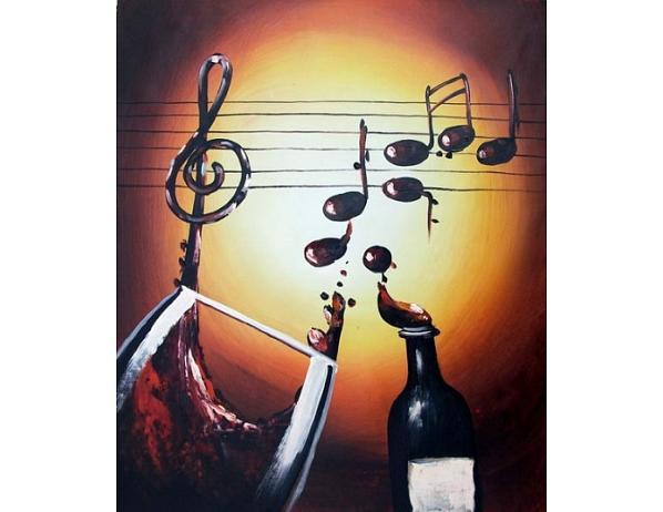 Obraz – Hudba, víno, zpěv