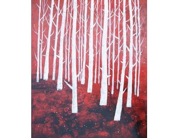 Obraz – Hustý les
