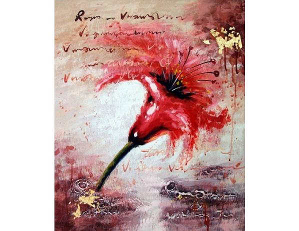 Obraz – Rudý květ