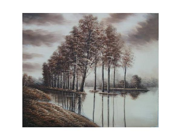 Obraz – Stromy ve vodě