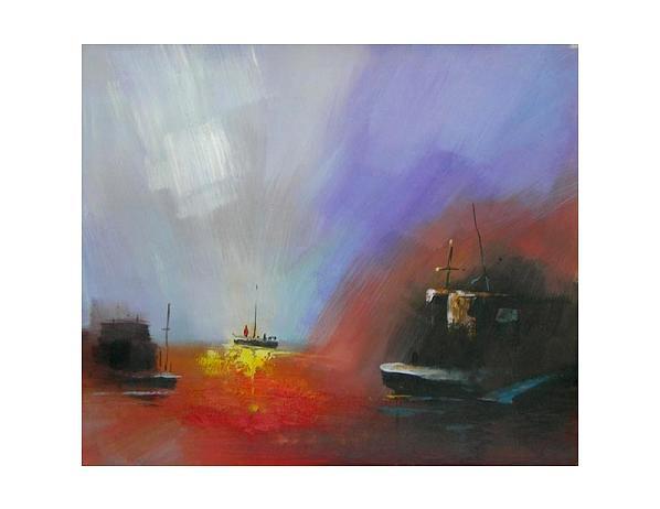 Obraz – Záře na moři