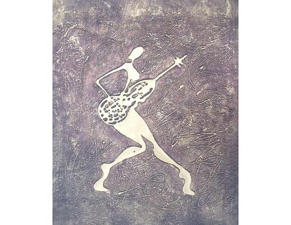 Obraz – Zlatý muzikant