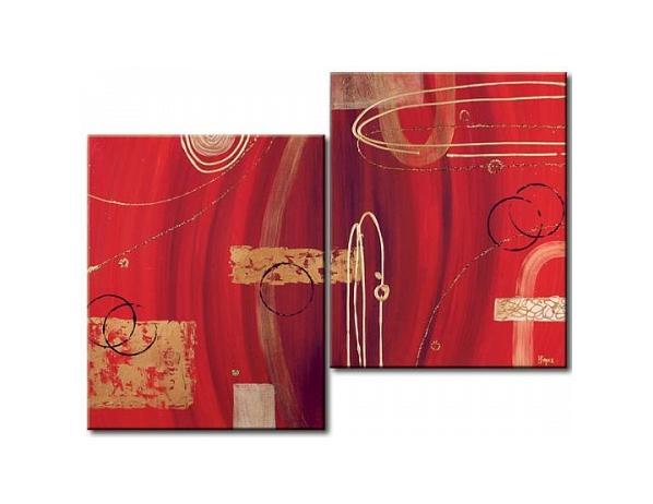 Obrazový set – Abstrakce v červeném