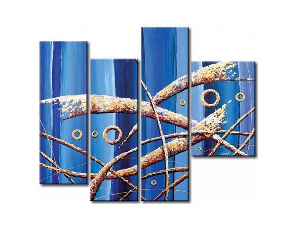 Obrazový set – Modrá abstrakce