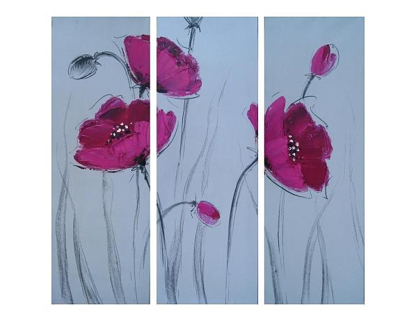Obrazový set – Růžové vlčí máky