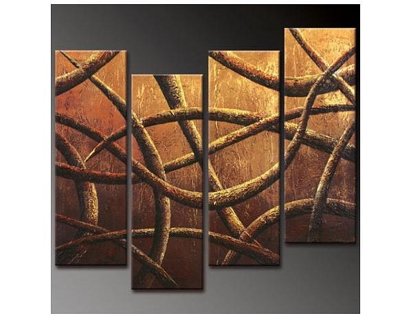 Vícedílné obrazy – Abstraktní čáry