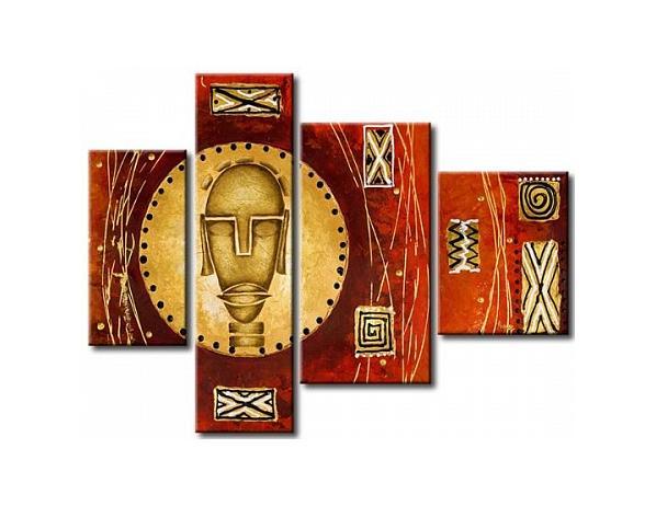 Vícedílné obrazy – Africká hlava