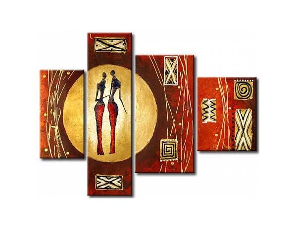Vícedílné obrazy – Africké postavy