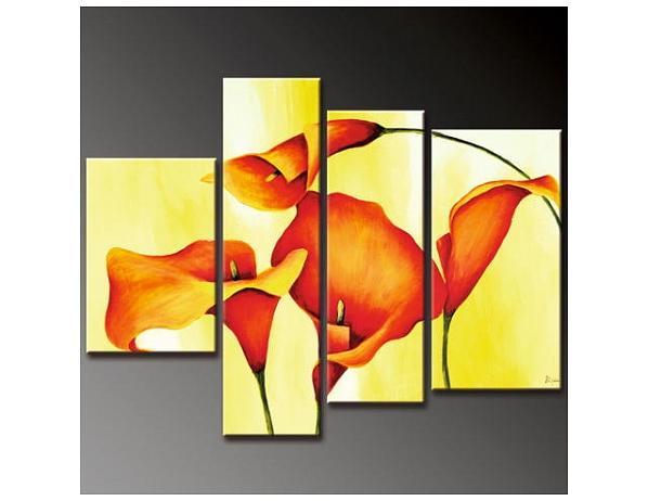 Vícedílné obrazy – Oranžové kaly