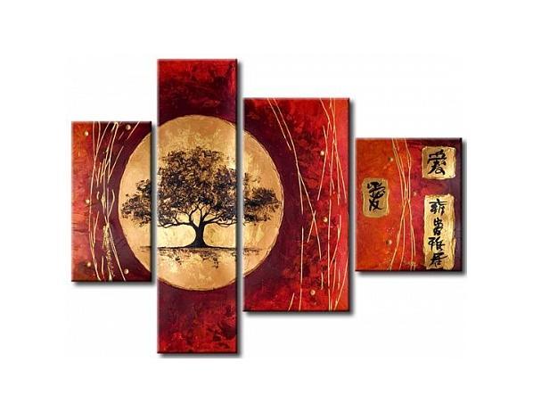 Vícedílné obrazy – Orientální strom