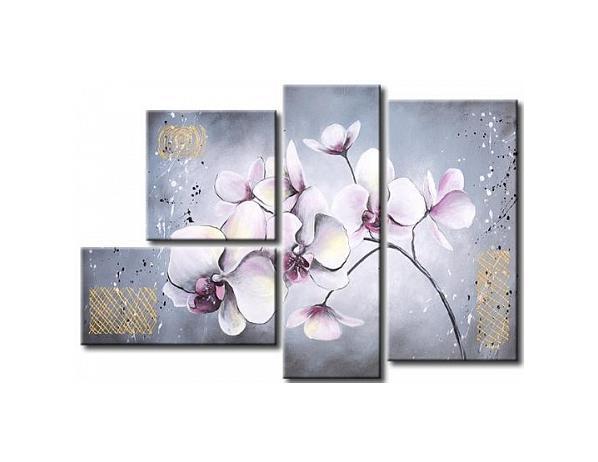 Vícedílné obrazy – Větvička s květy