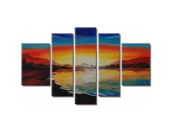 Vícedílné obrazy – Záliv