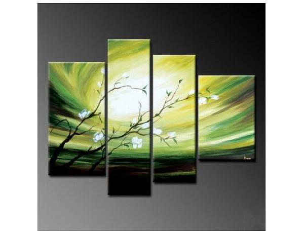 Vícedílné obrazy – Zelená větvička