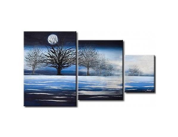 Vícedílné obrazy – Zimní krajina