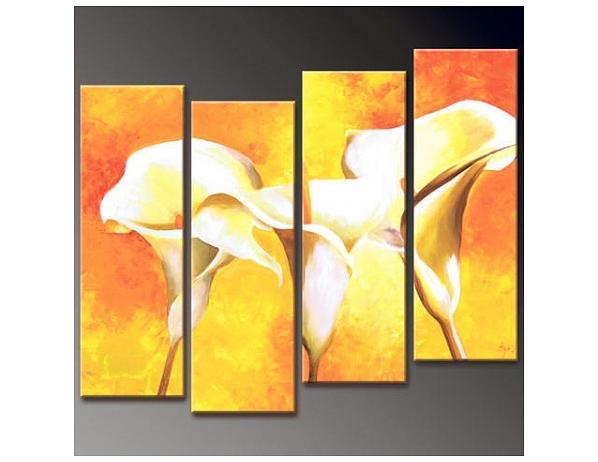 Vícedílné obrazy – Žluté kaly