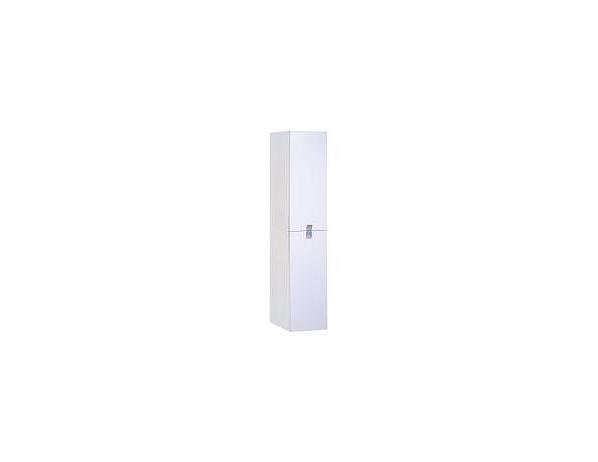 Vysoká závěsná skříňka N05, bílý lesk
