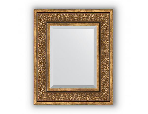 Zrcadlo s fazetou v rámu, bronzový monogram
