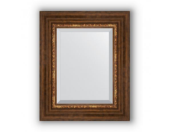 Zrcadlo s fazetou v rámu, římský bronz