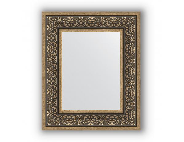 Zrcadlo v rámu, stříbrný monogram