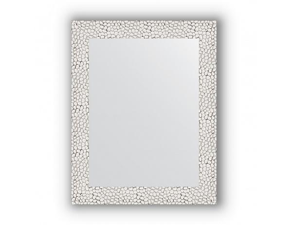 Zrcadlo v rámu, stříbrobílý tepaný reliéf