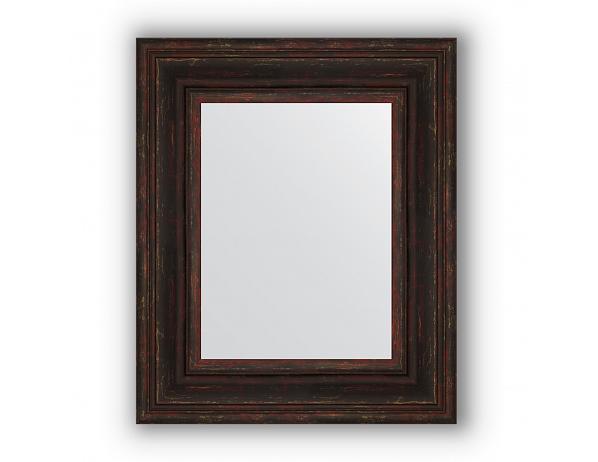 Zrcadlo v rámu, tmavý provensálský dekor