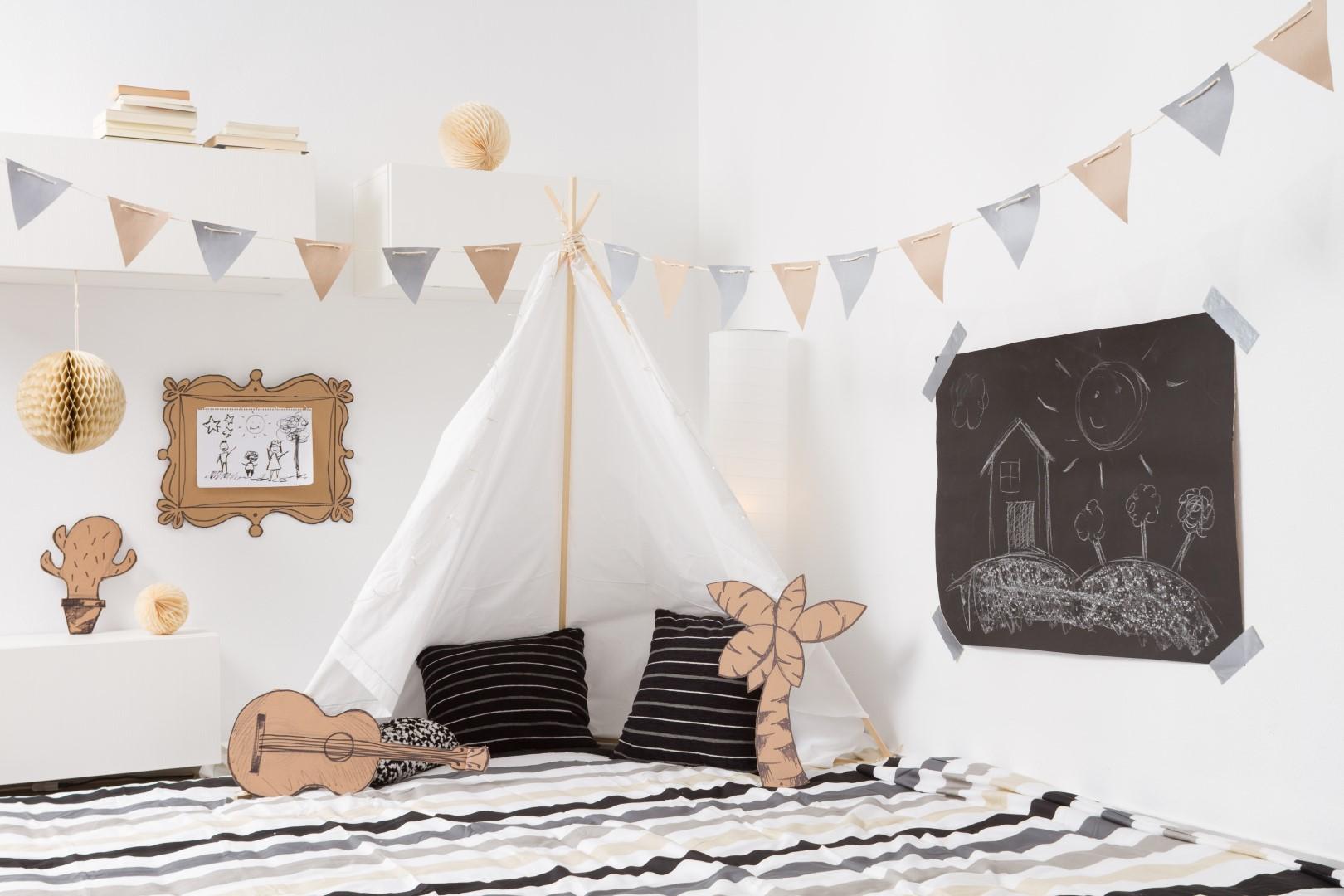 Dětský pokoj s teepee