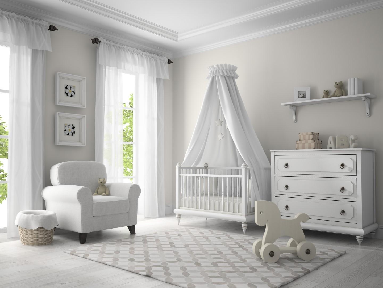 Pokoj pro miminko v bílém hávu