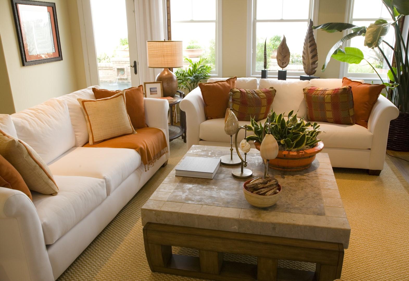 Obývací pokoj v přírodním duchu